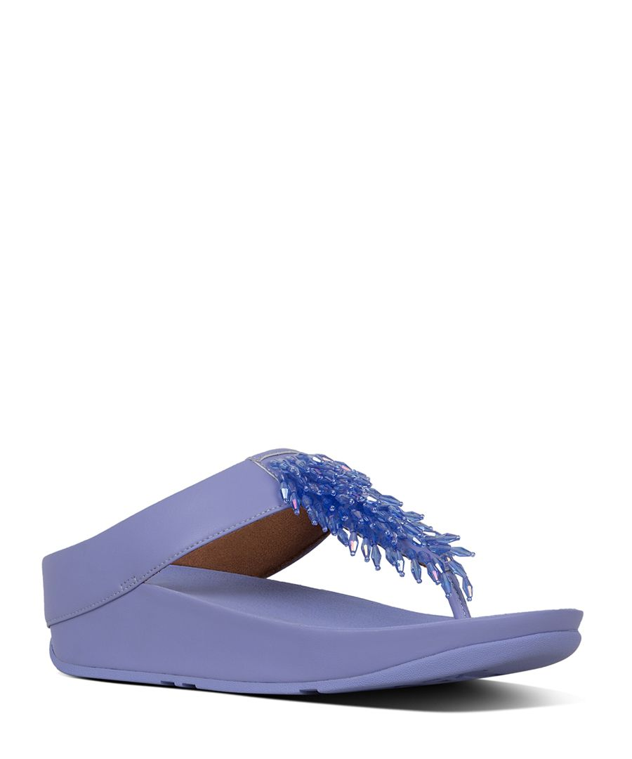 Rumba frosted lavender leather sandals