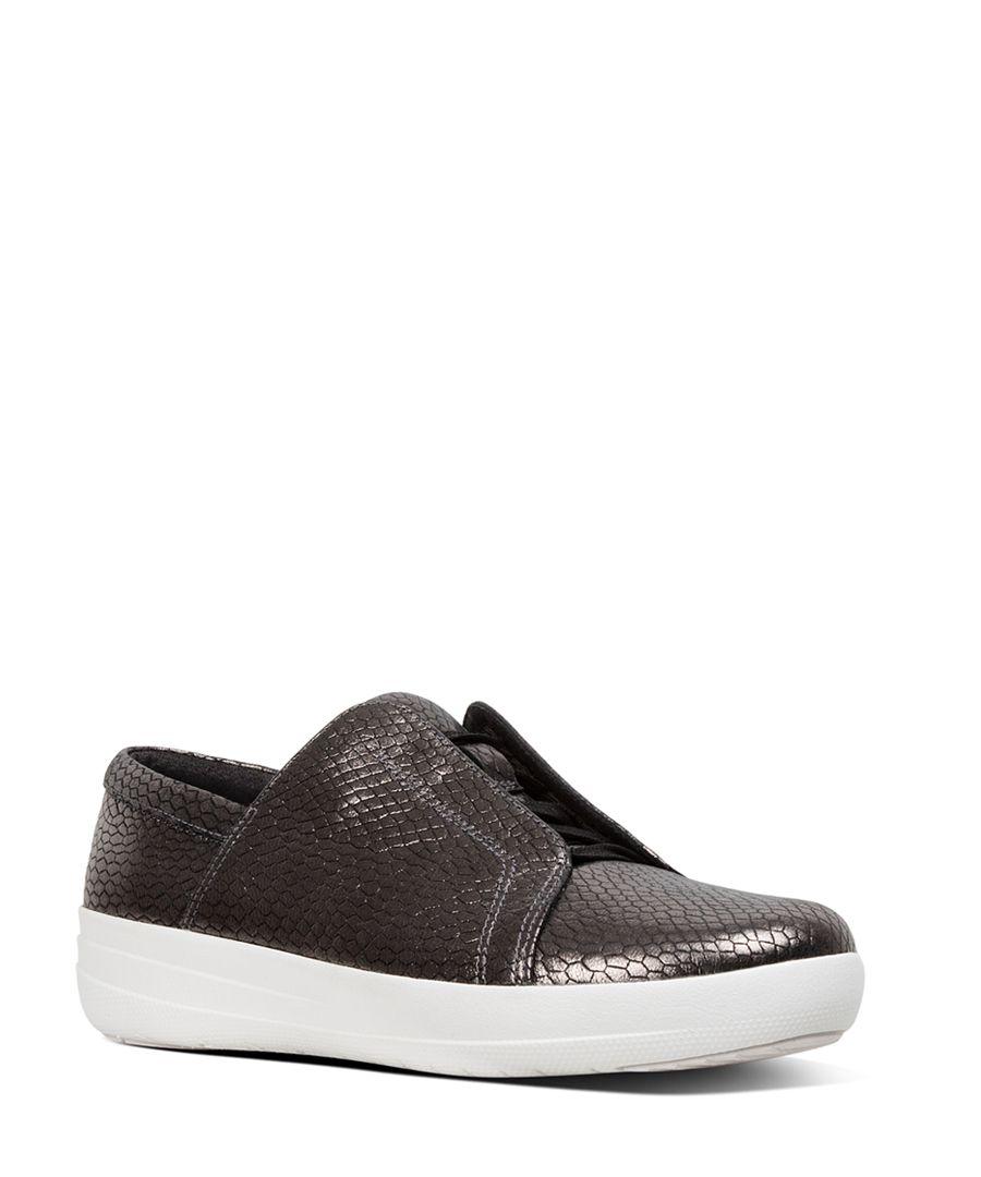 Racine Novelty black patterned trainers