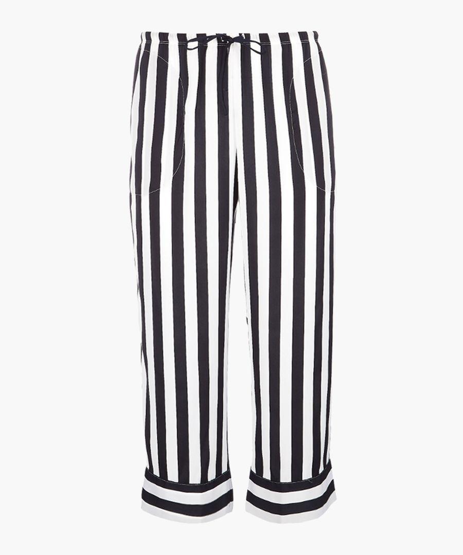 Black & white stripe pyjama bottoms