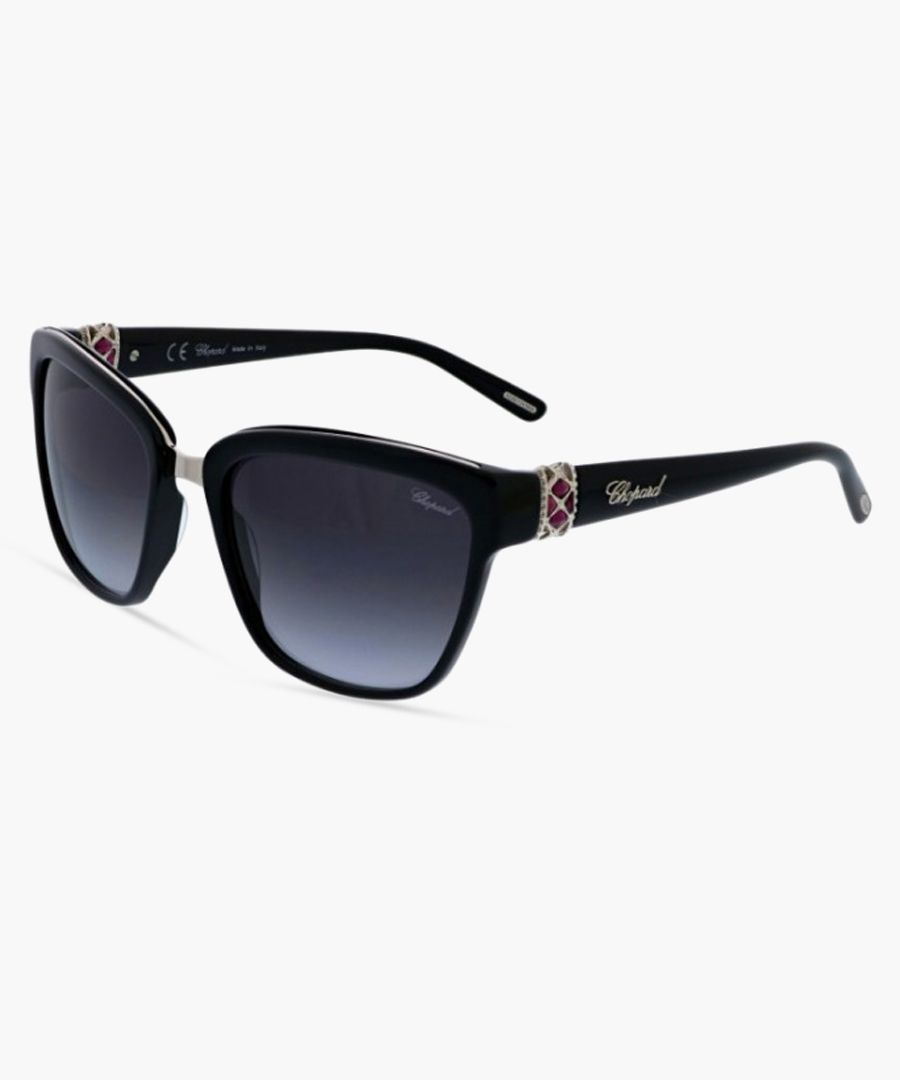 Black squared thick-frame sunglasses