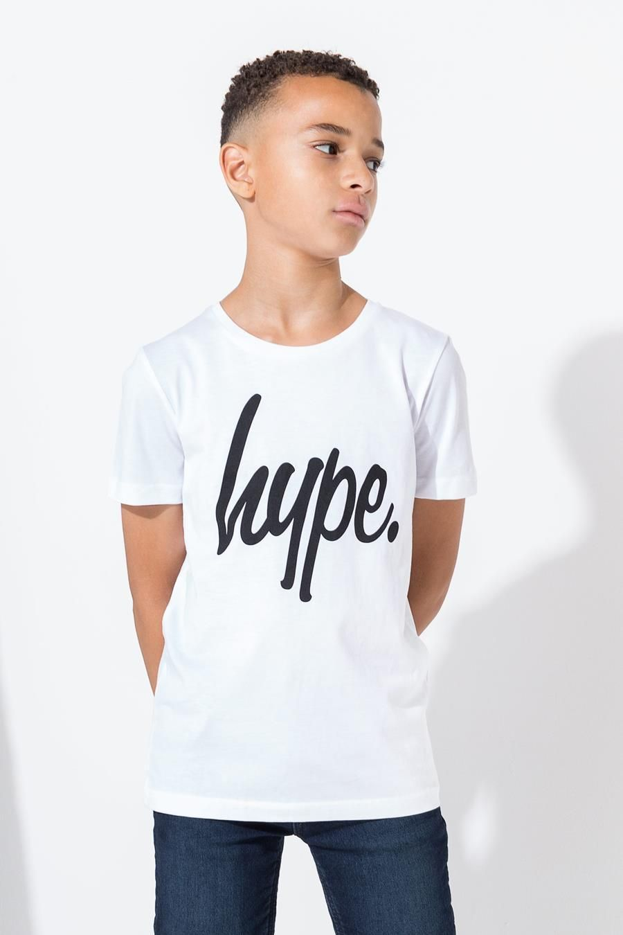 Hype White Hype Script Kids T-Shirt 7-8Y