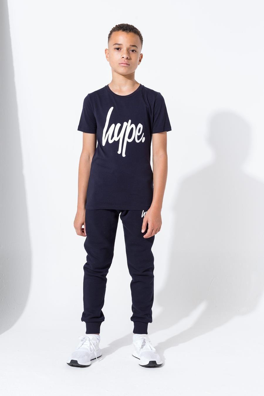 Hype Navy Hype Script Kids T-Shirt