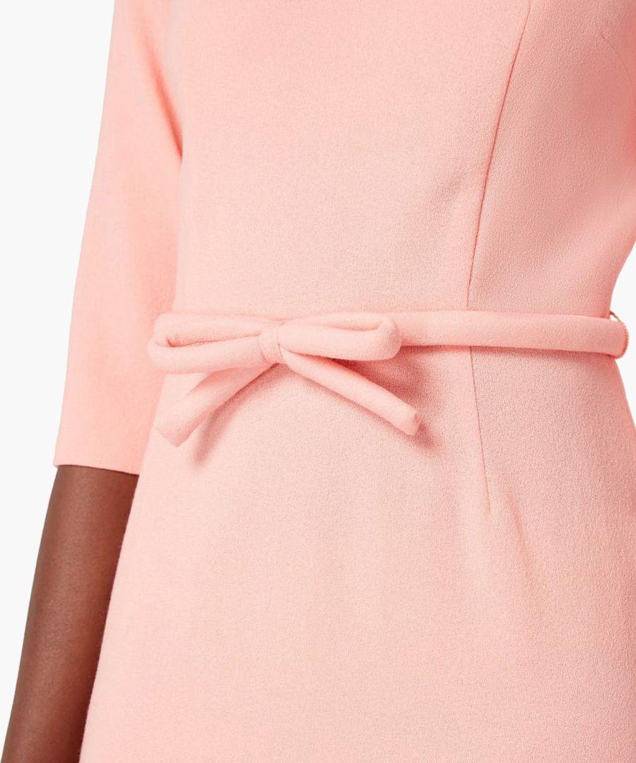 Harriet pink wool crepe bodycon dress