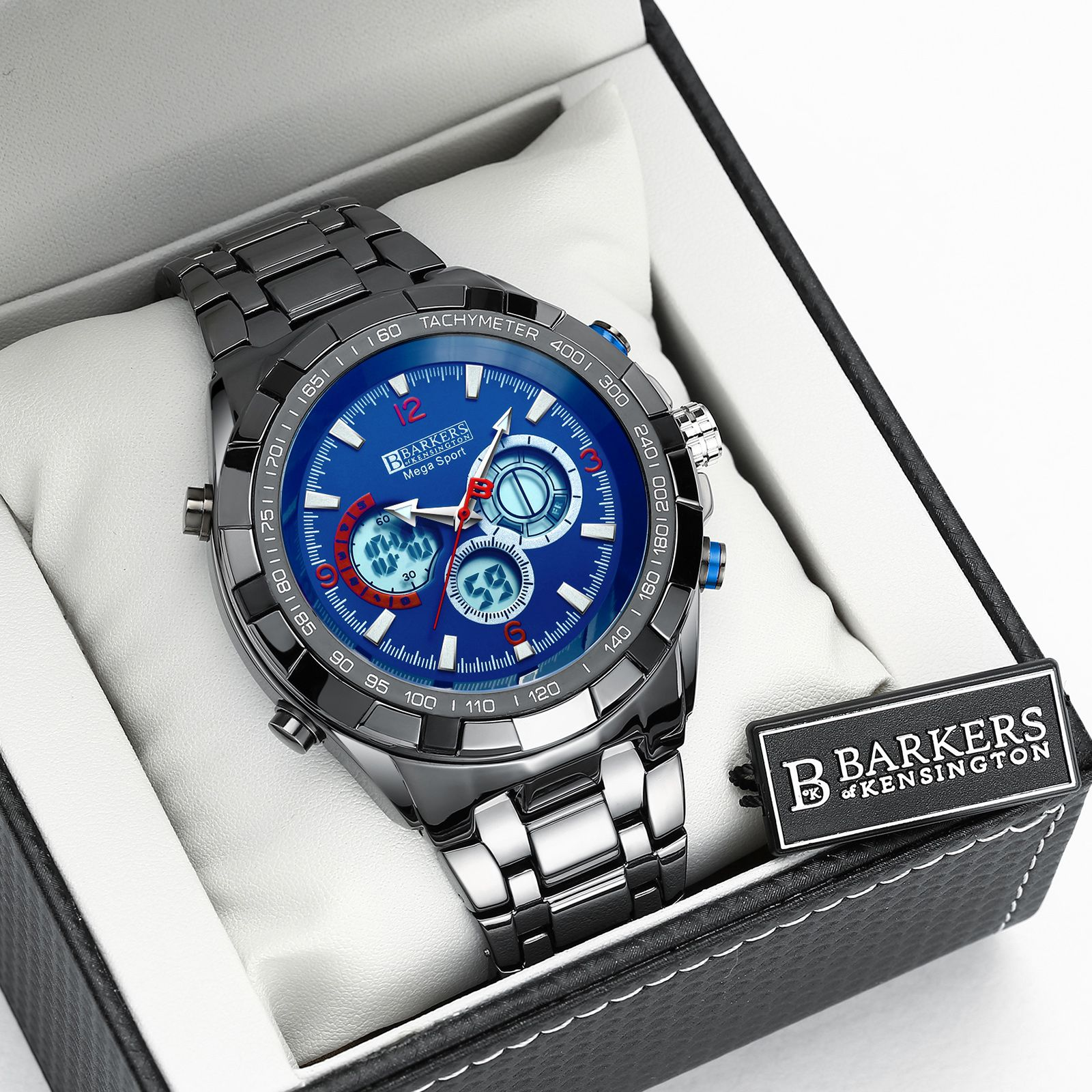 Barkers of Kensington Mega Sport Blue Mens Watch
