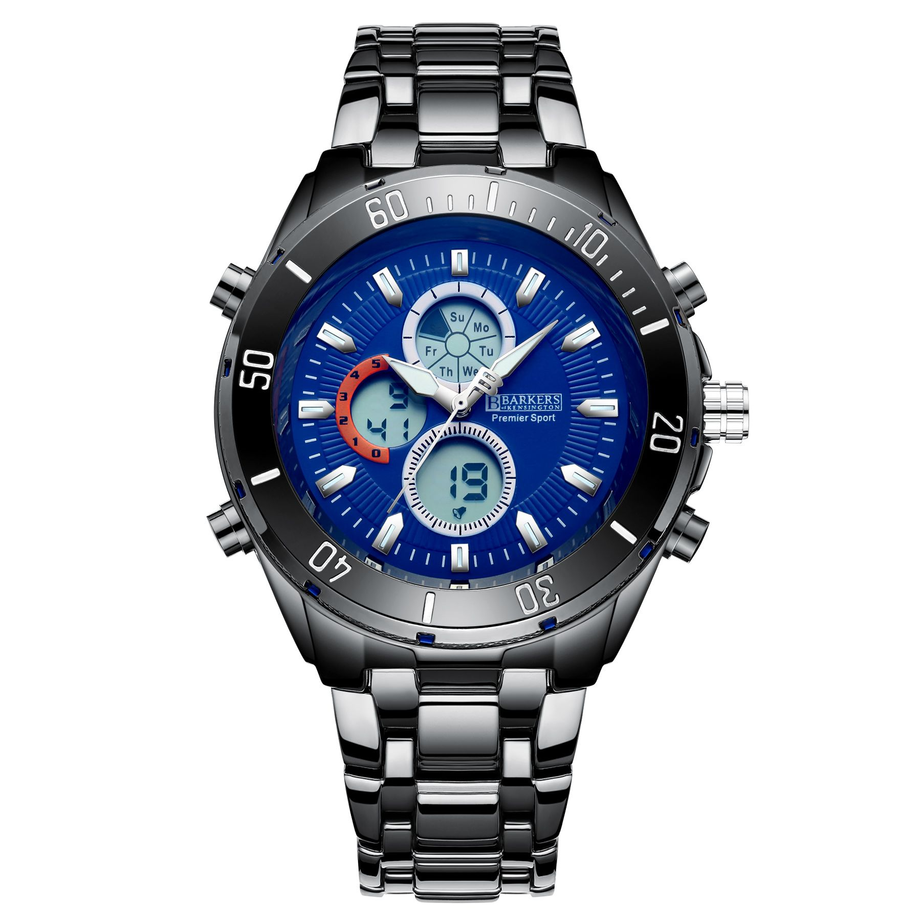 Barkers of Kensington Premier Sport Blue Mens Watch