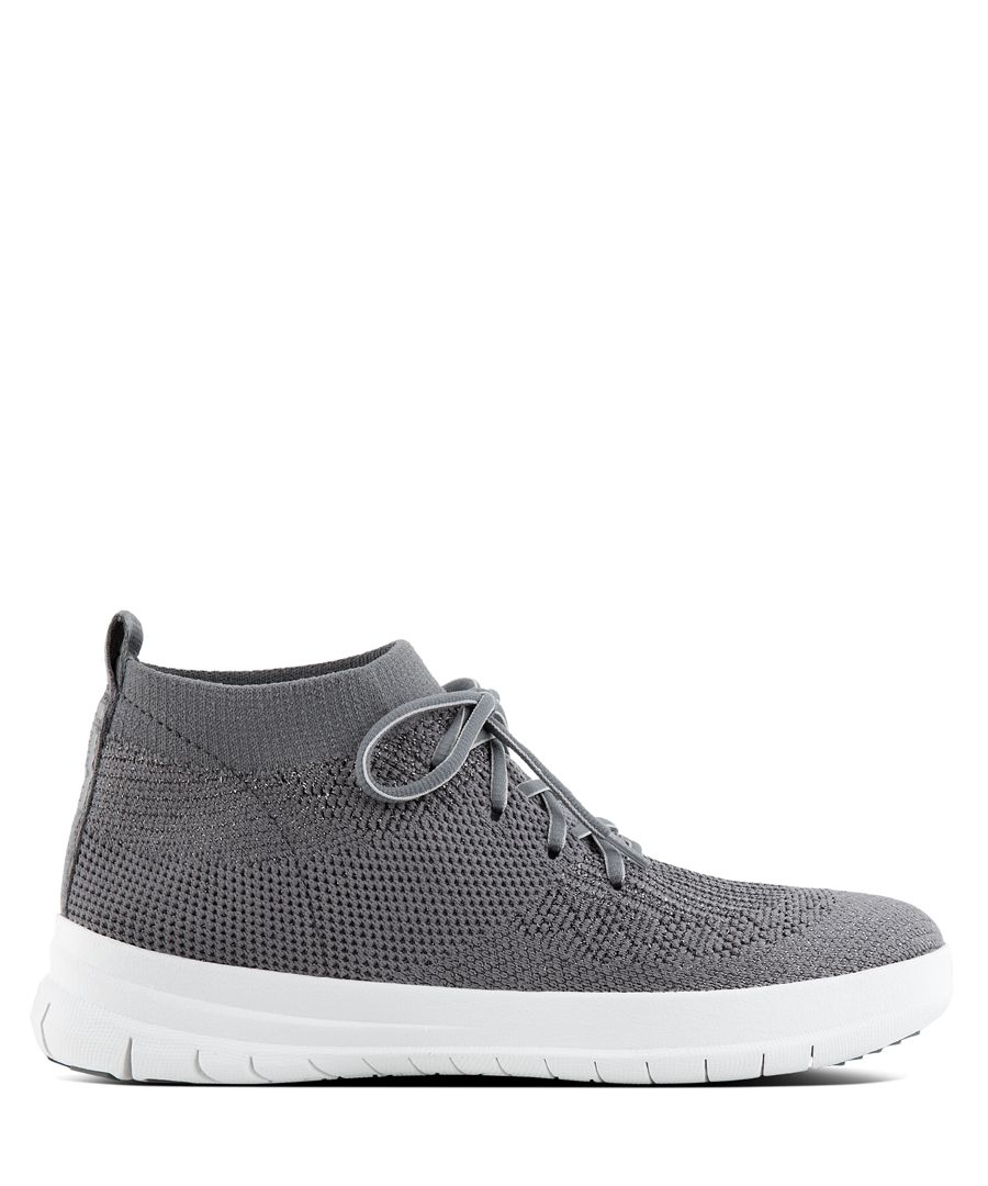 Uberknit pewter slip-on trainers