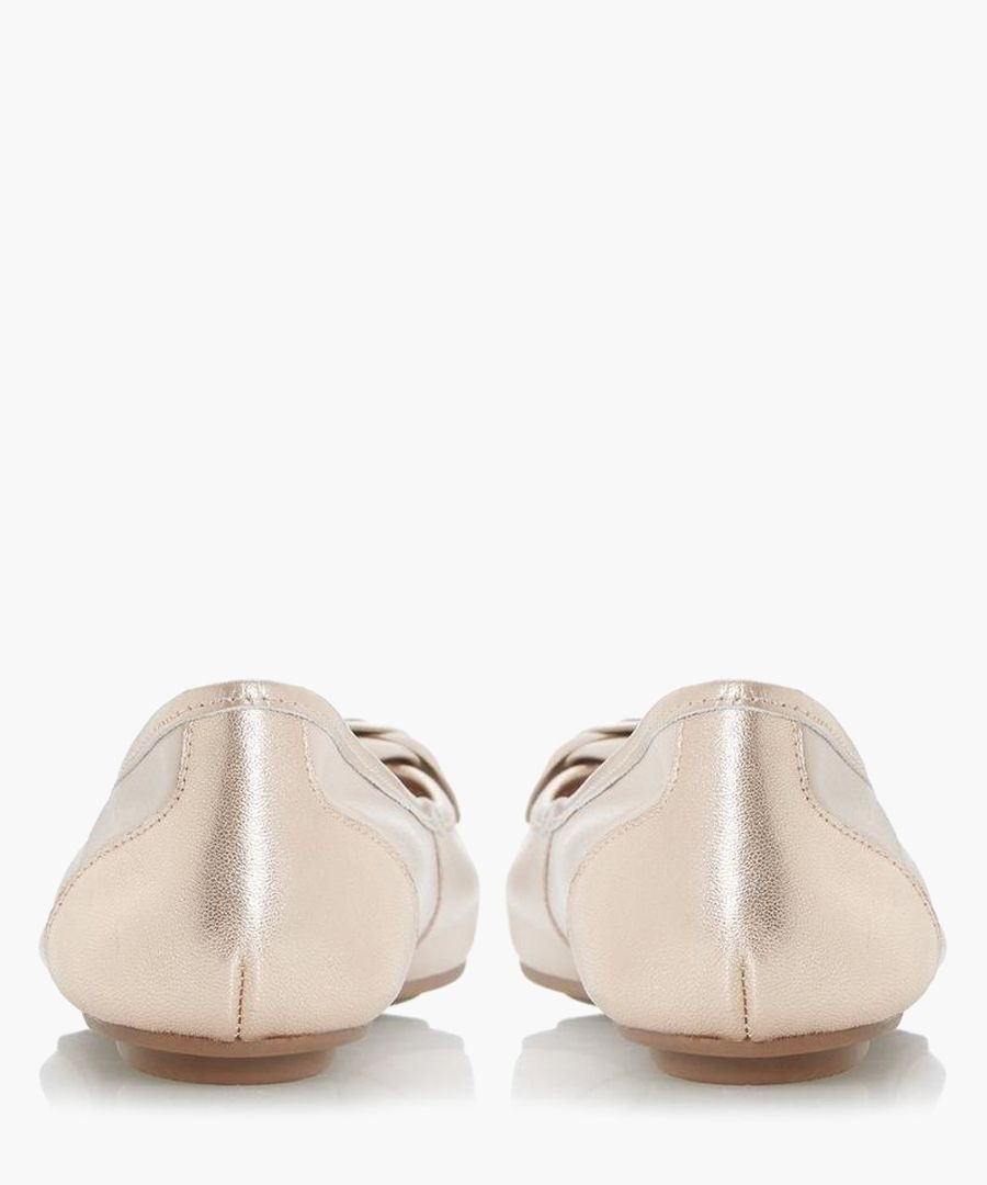 Hyacinthia blush leather ballet flats
