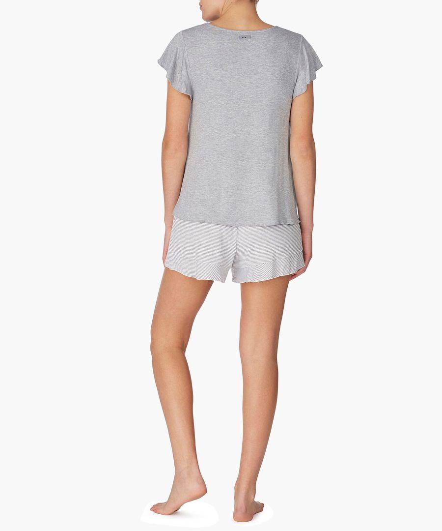 2pc Grey pyjama shorts set