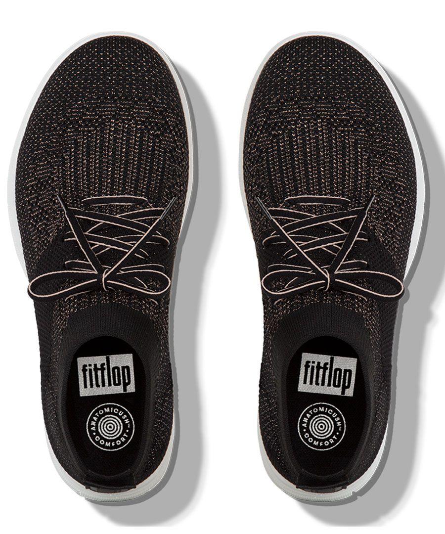 Uberknit black slip-on high-top trainers