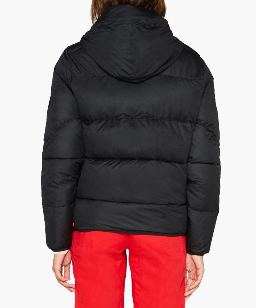 Women's Original black button puffer jacket