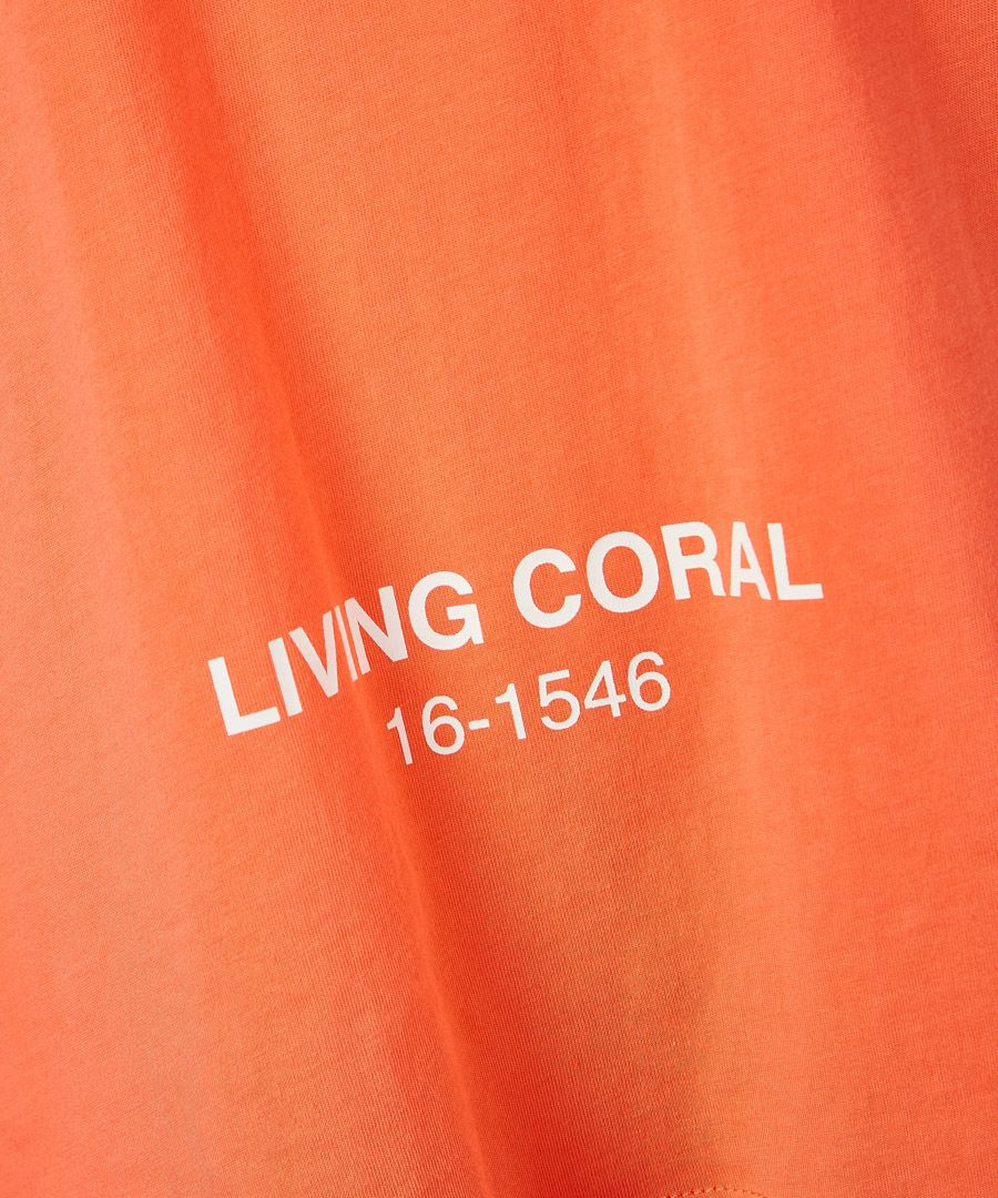 X pantone orange pure cotton t-shirt