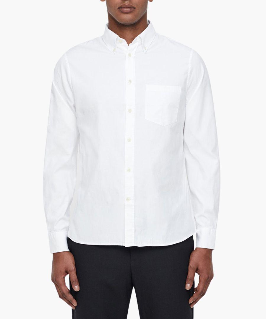 Daniel white cotton oxford shirt