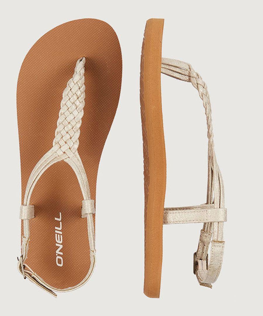 Braided ditsy sandals