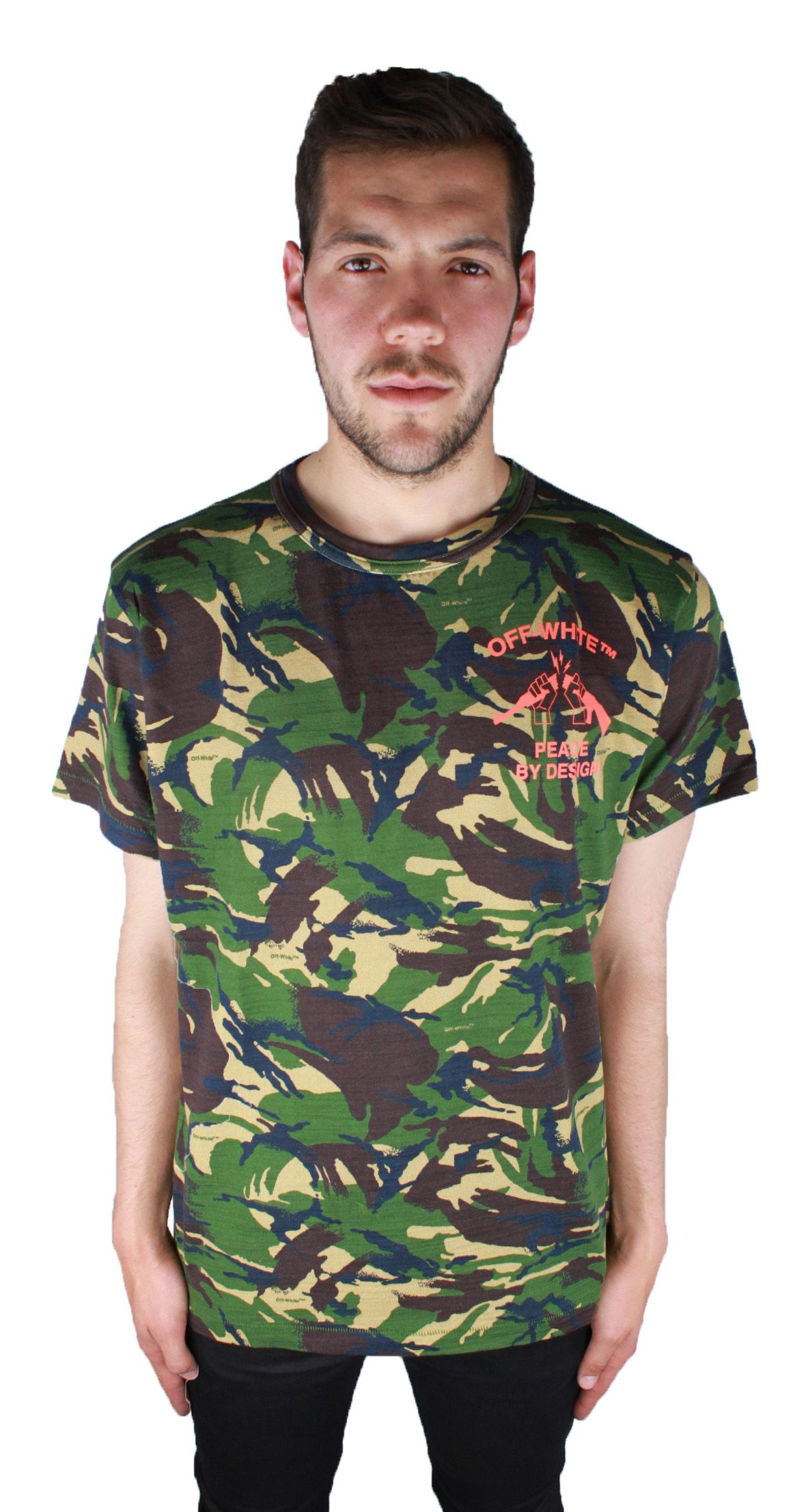 Off-White Camouflage Tee OMAA002 S17411143 9919 T-Shirt