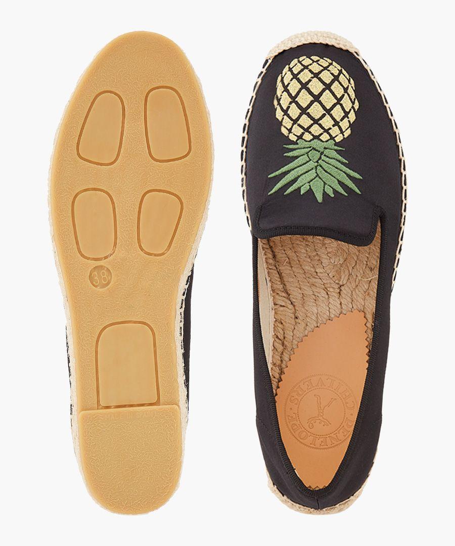 Nonno pineapple black espadrilles