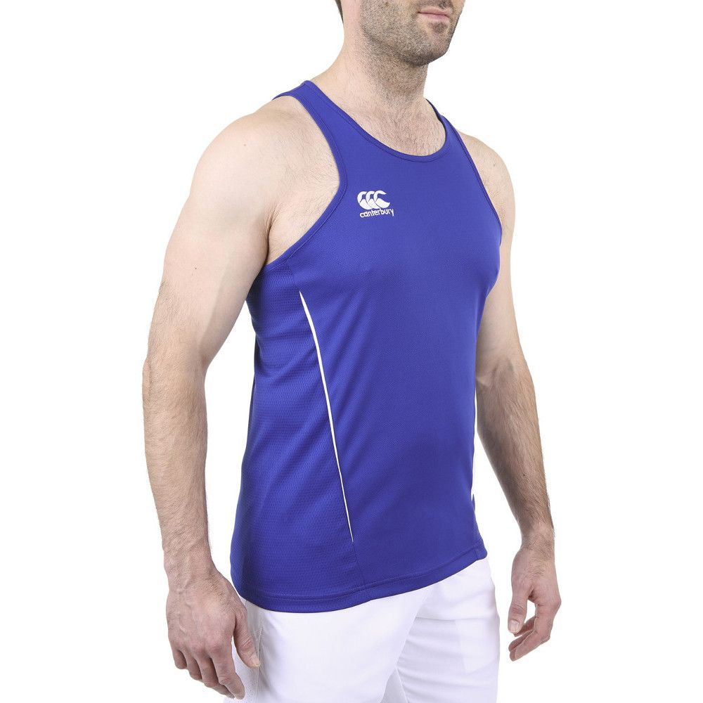 Canterbury Mens Team Dry Moisture Wicking Singlet Vest