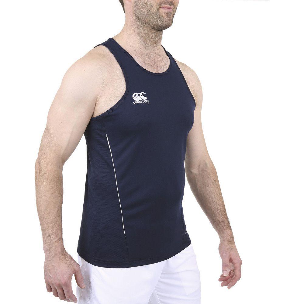 Canterbury Mens Team Dry Moisture Wicking Singlet Vest