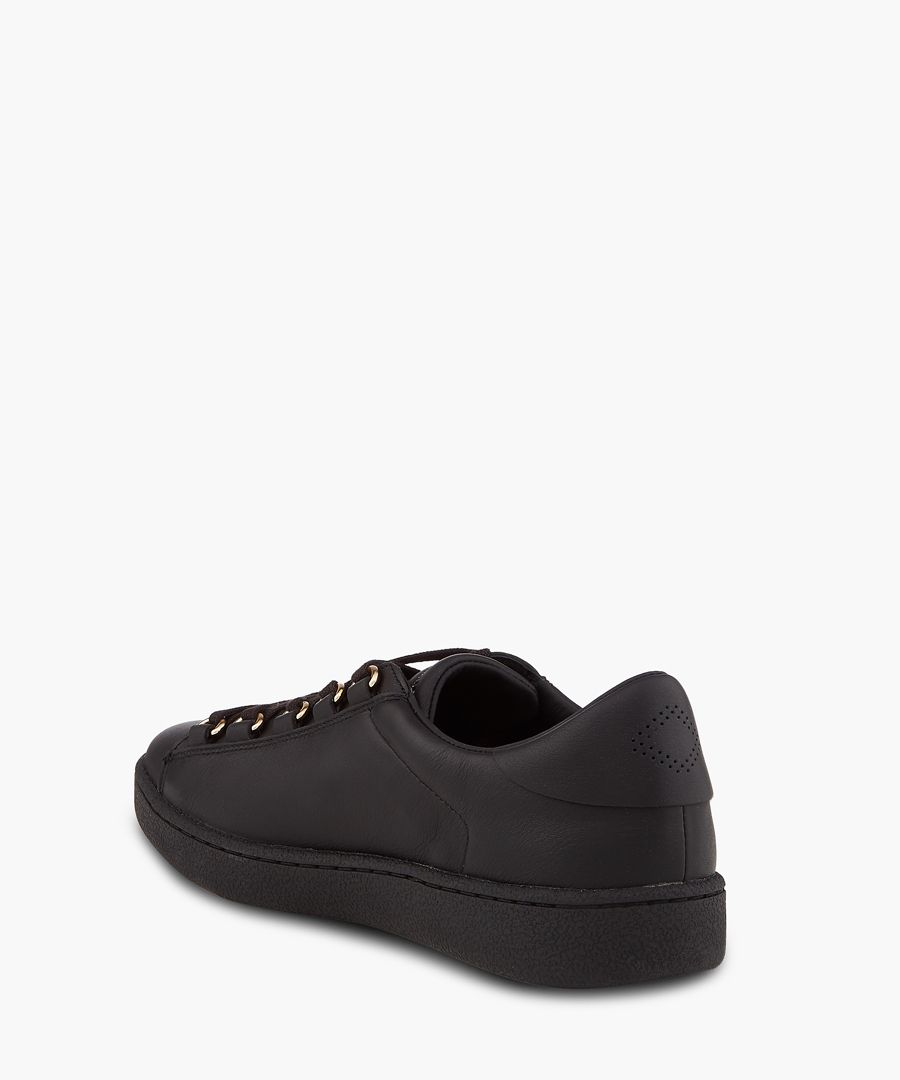 Frida Winter black lace-up sneakers