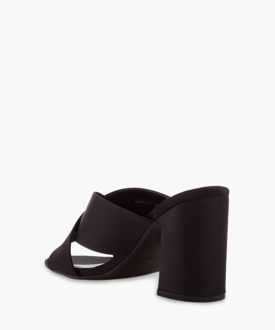 Marley black leather mules