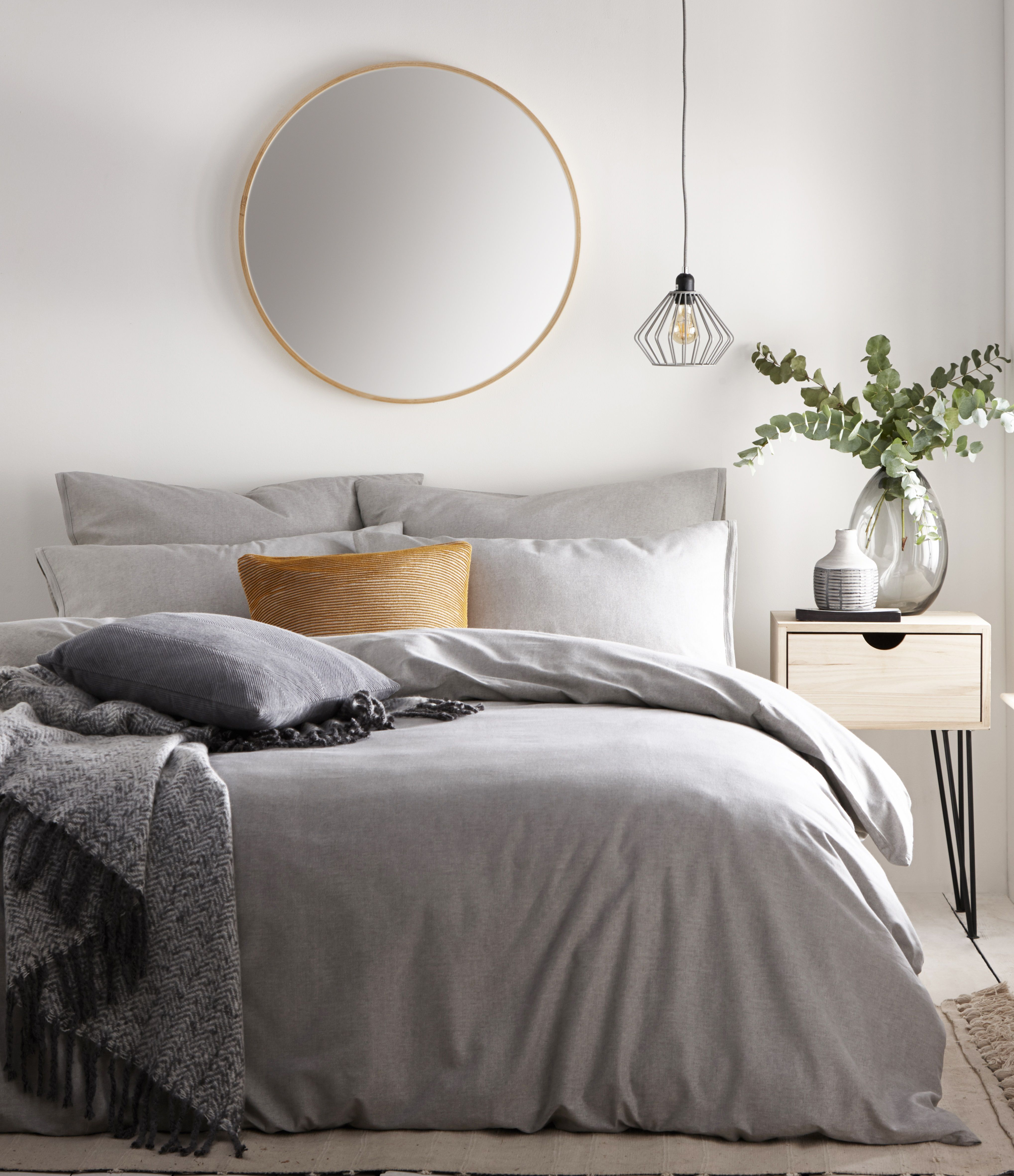Claybourne Duvet Set Grey