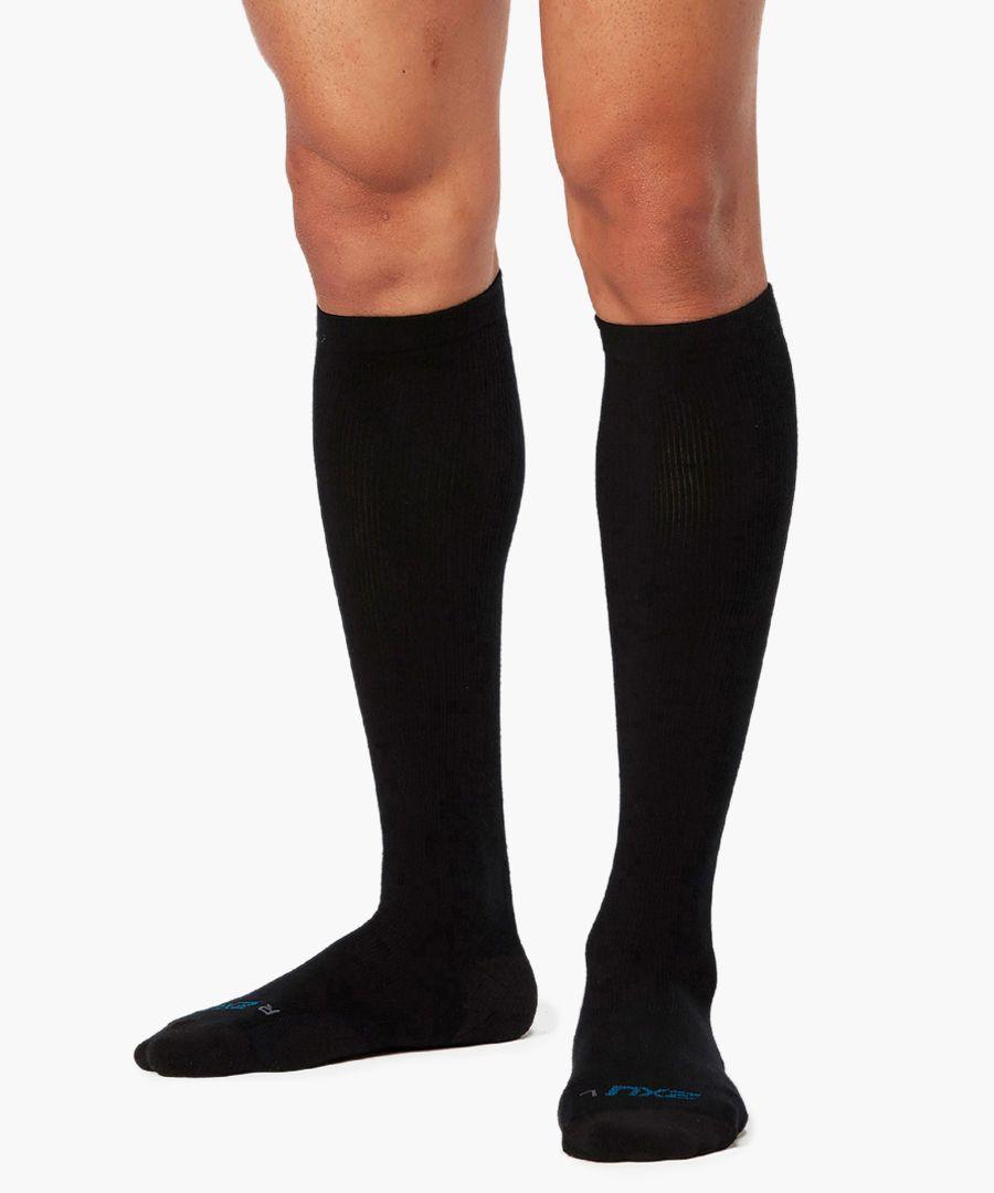 24/7 black compression socks