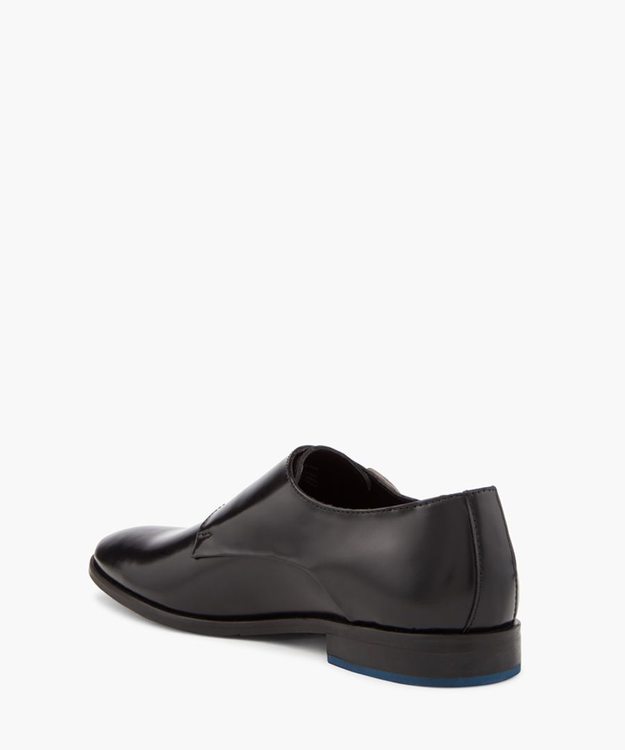 Road Island black double monkstraps