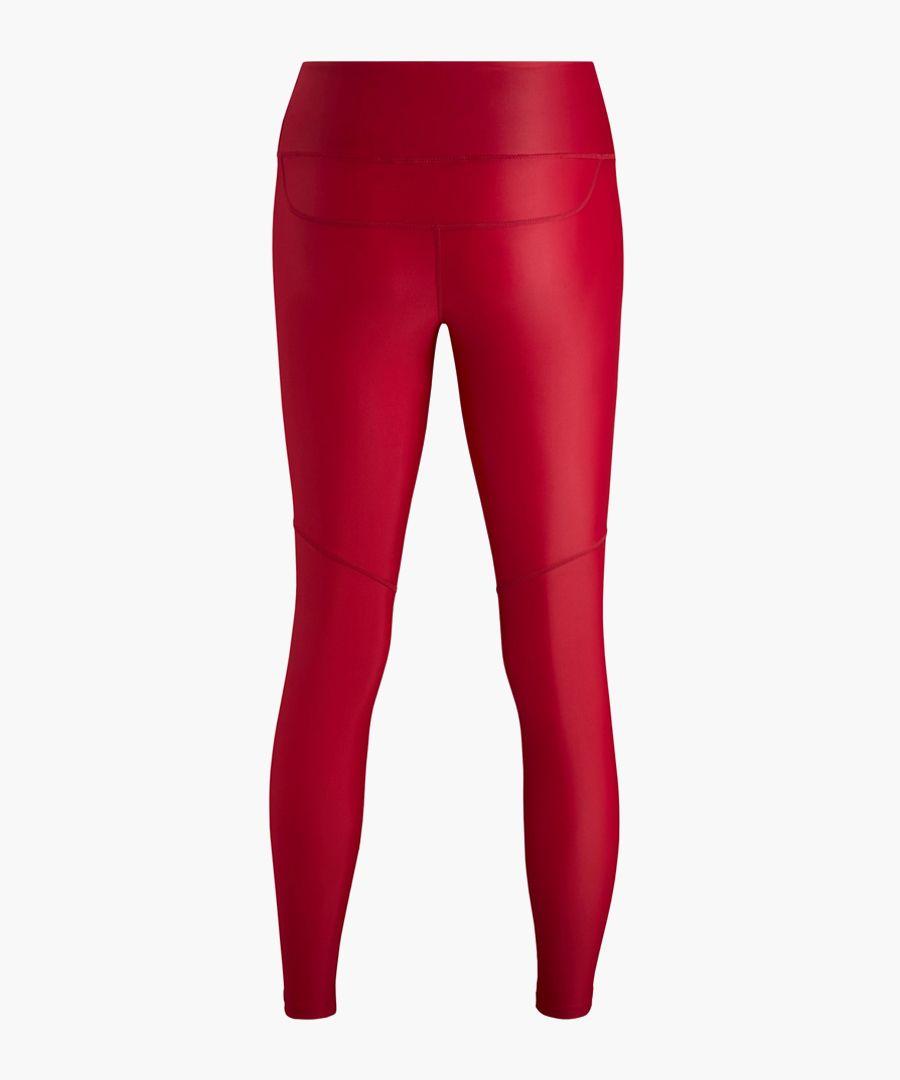 Women's red logo leggings