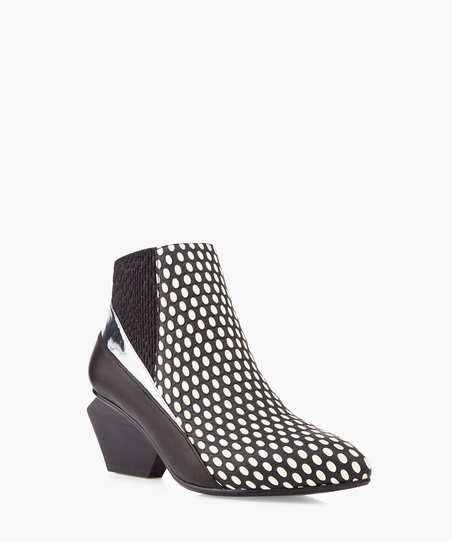 Jacky Lee leather & metal ankle boots