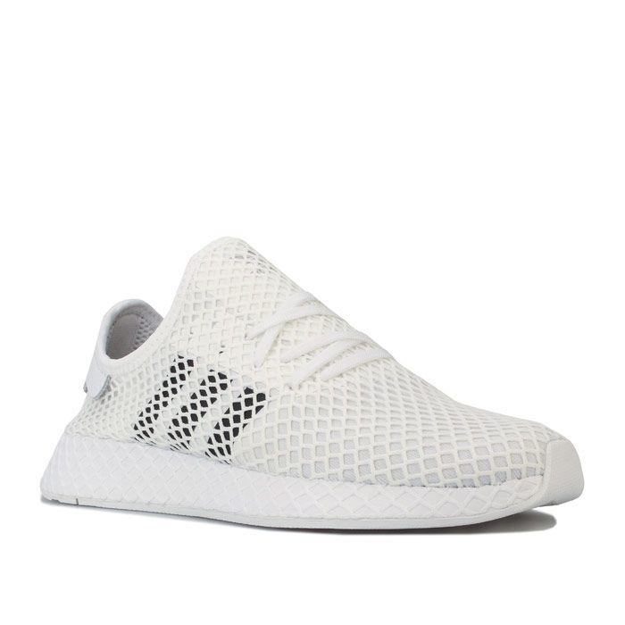 Men's adidas Originals Deerupt Runner Trainers in White