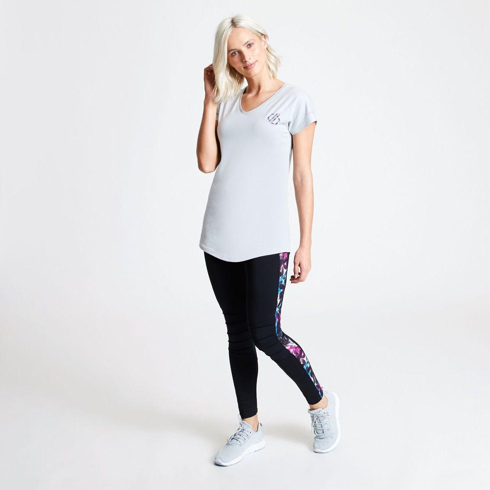 Dare 2b Womens Pastime Cotton V Neck Logo T Shirt Tee