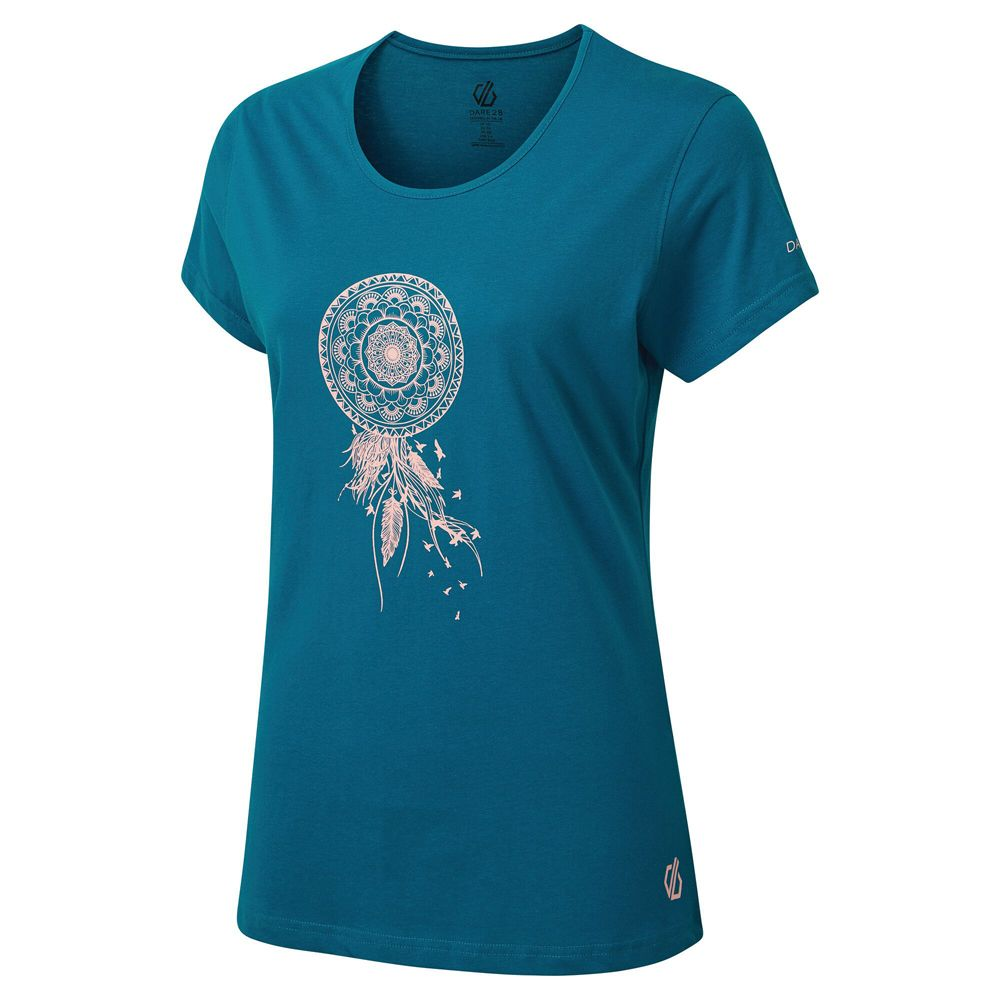 Dare 2b Womens Parallel Cotton Graphic Scoop Neck T Shirt