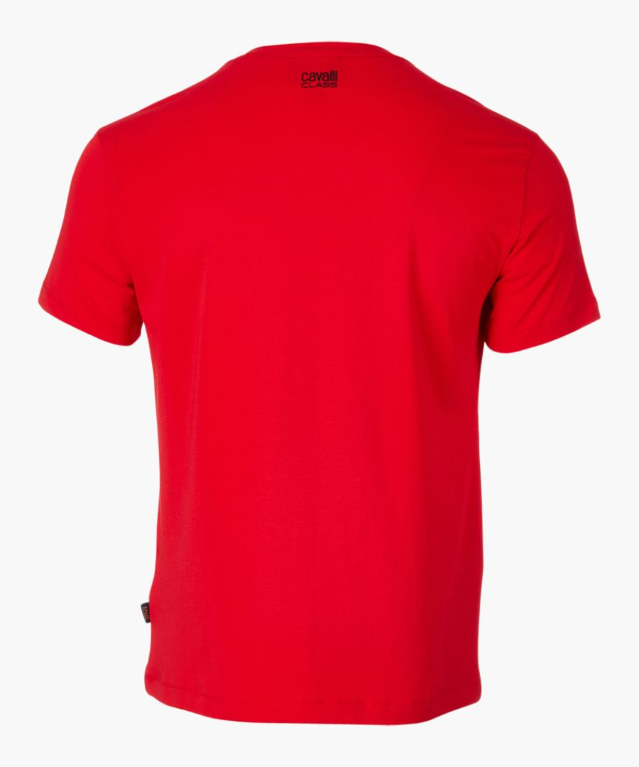 Red serpent printed T-shirt