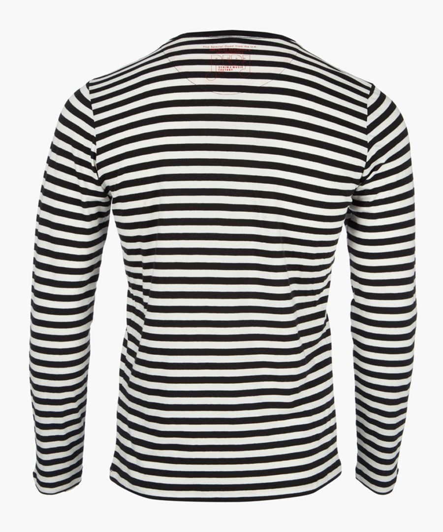 Black and white striped graphic top
