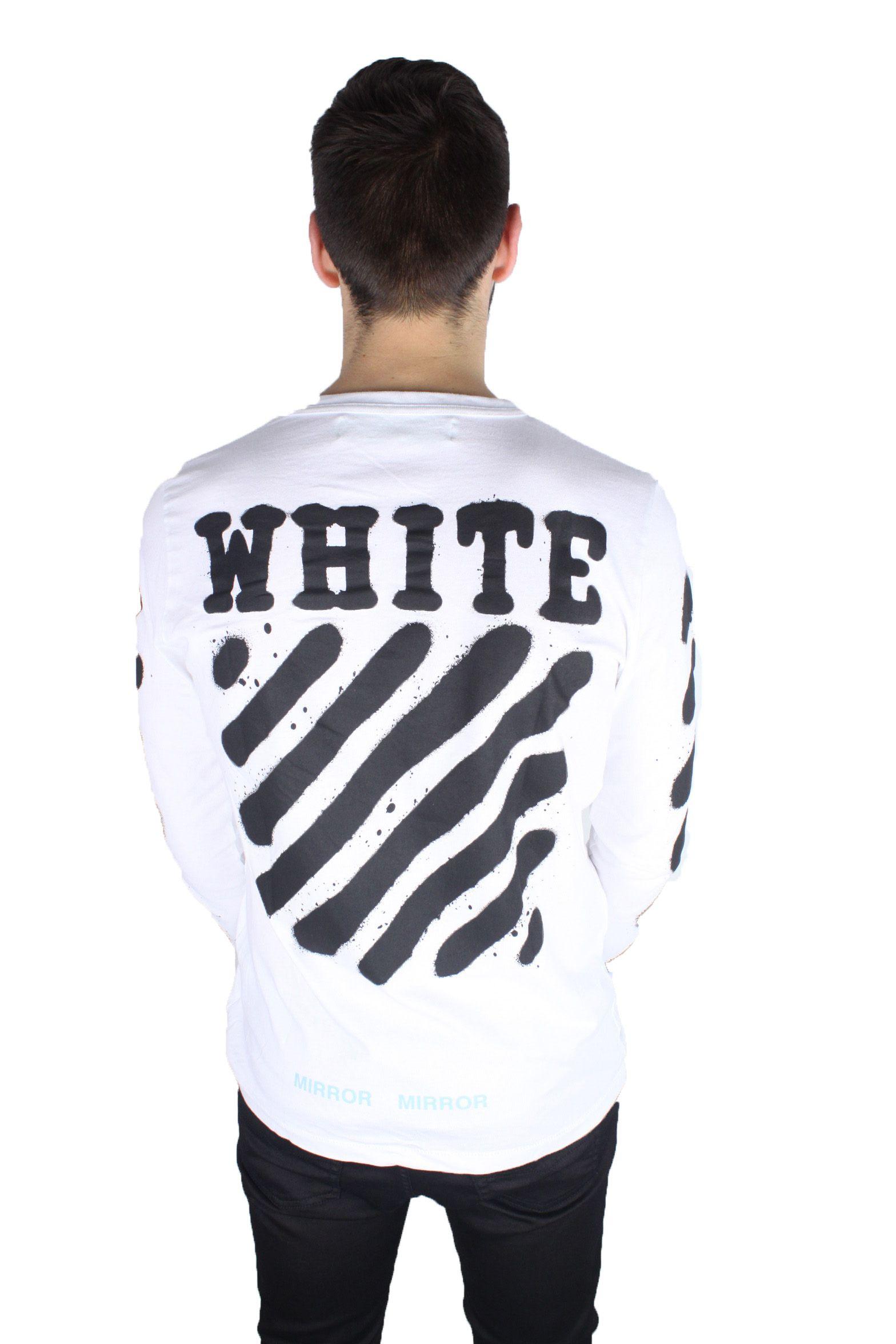 Off-White Diag Spray Long-Sleeved Tee OMAB001 S17185023 0110 T-Shirt