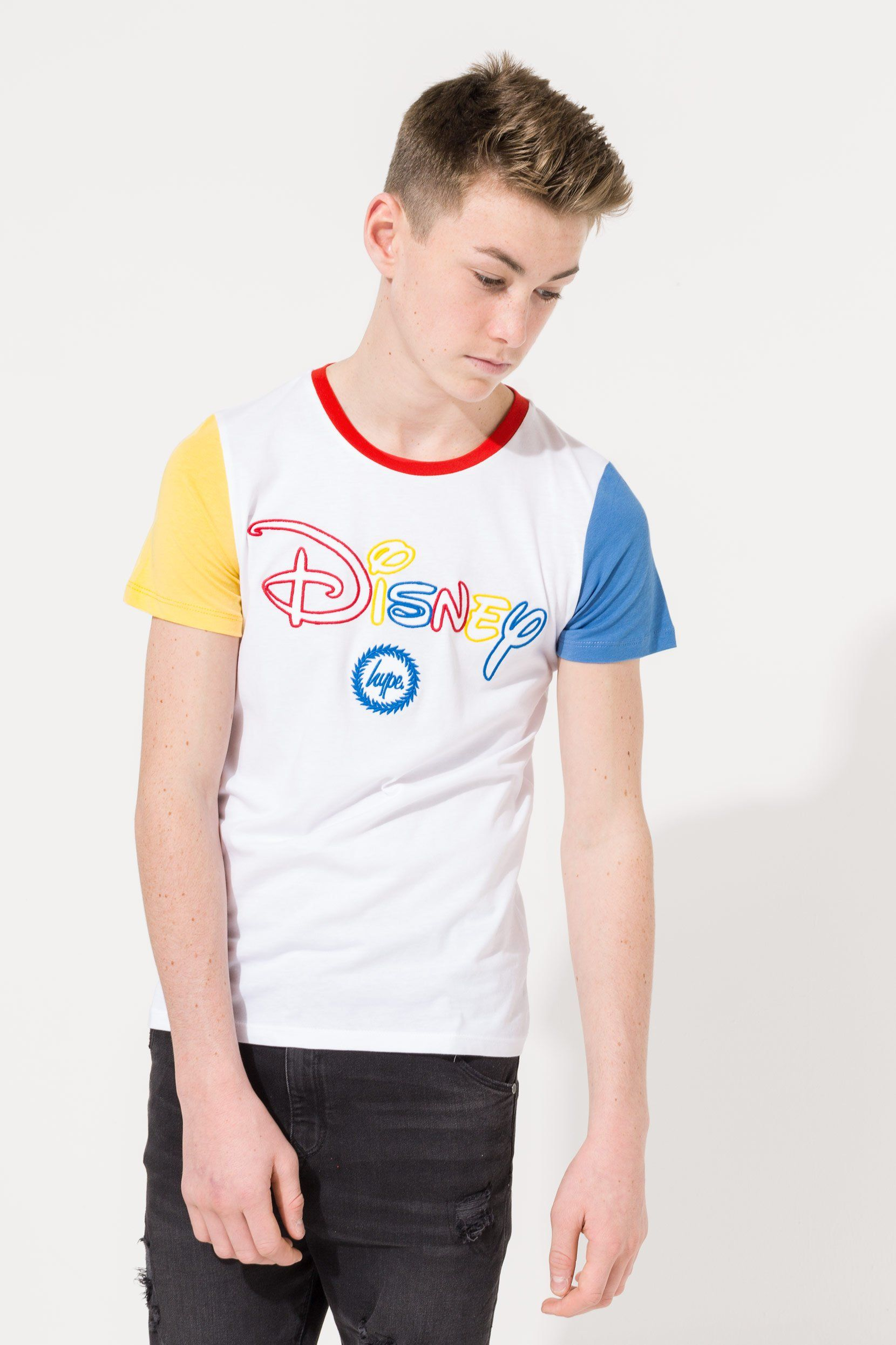 Hype Disney White Colourblock Kids T-Shirt