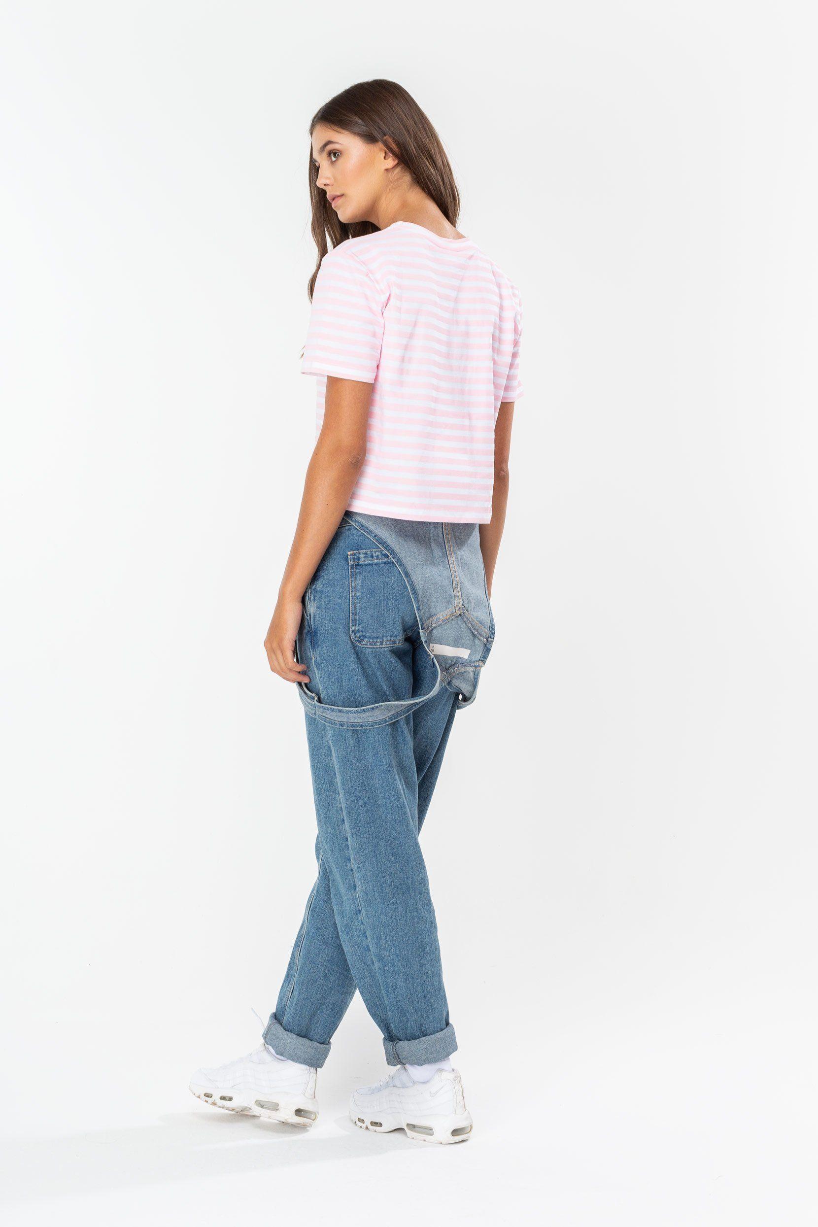 Hype Disney Pink Cheshire Cat Pocket Womens Crop T-Shirt 4