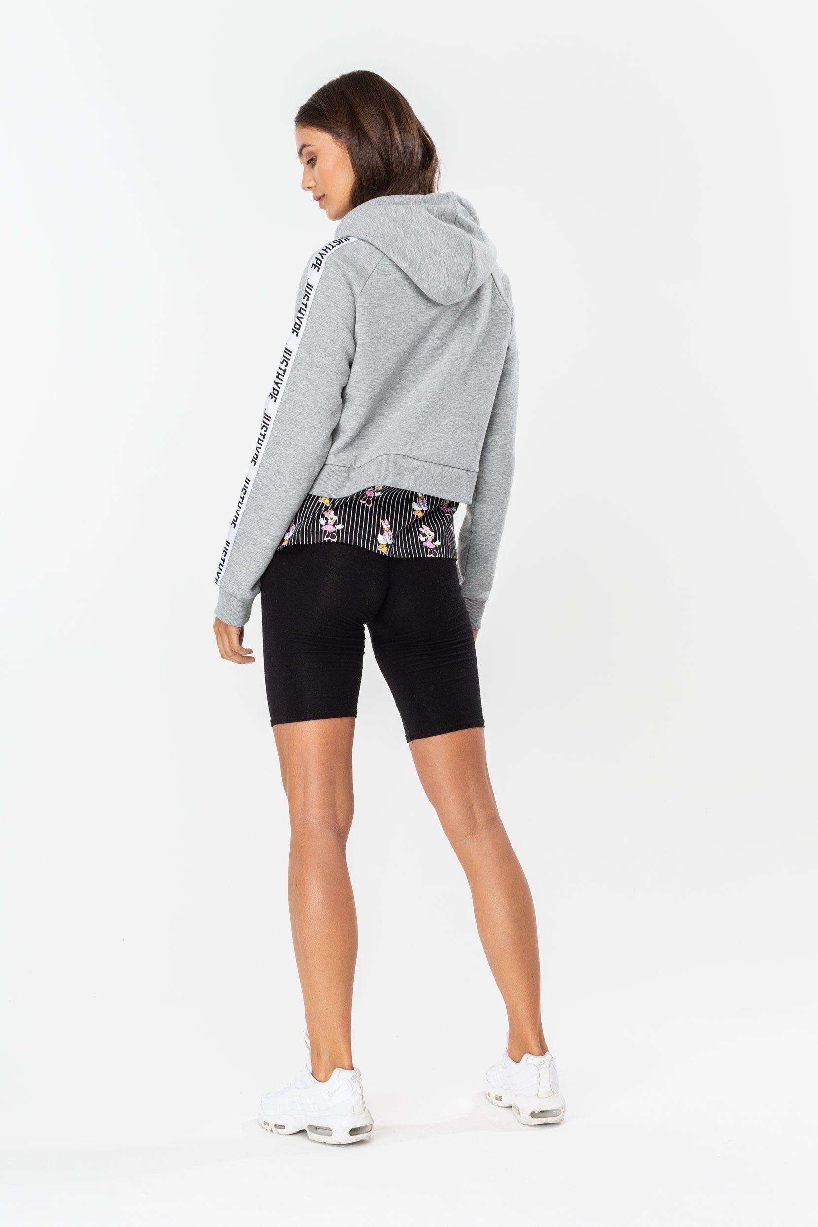 Hype Disney Grey Girl Squad Stripe Womens Pullover Hoodie
