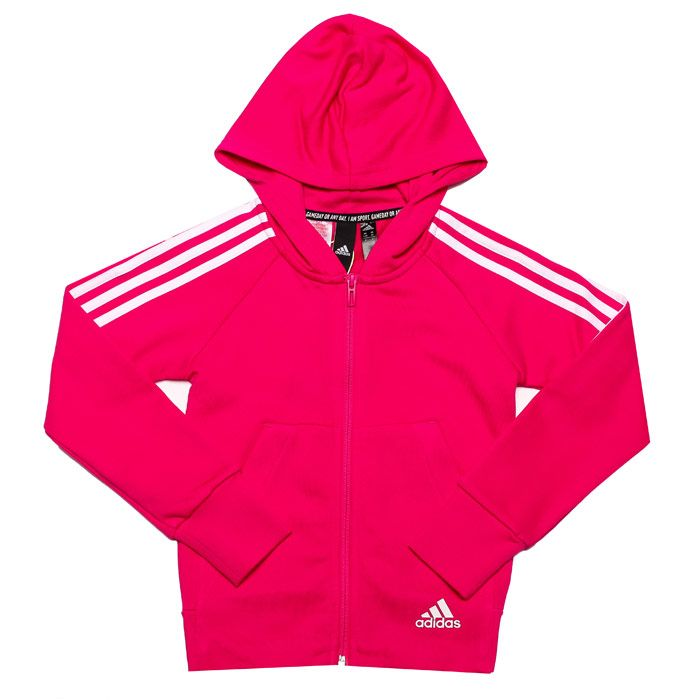 Girl's adidas Infant Must Haves 3-Stripes Hoody in Pink