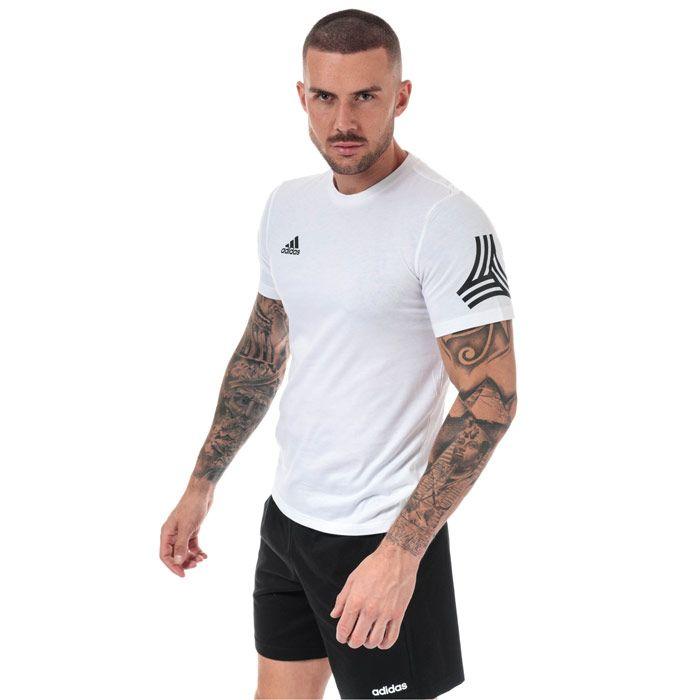 Men's adidas Tango Logo T-Shirt in White