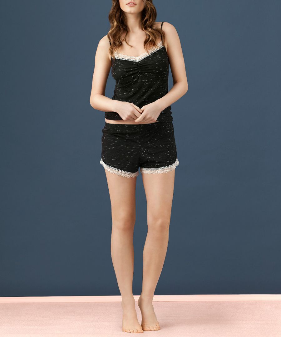 2pc black heather pyjama set