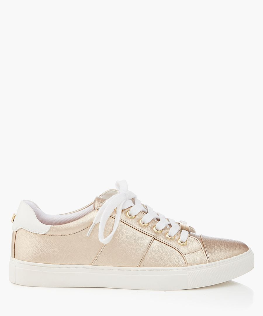 Gold-tone sneakers