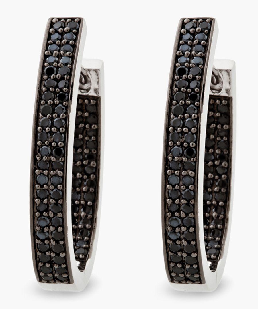 Foggio black zirconia earrings
