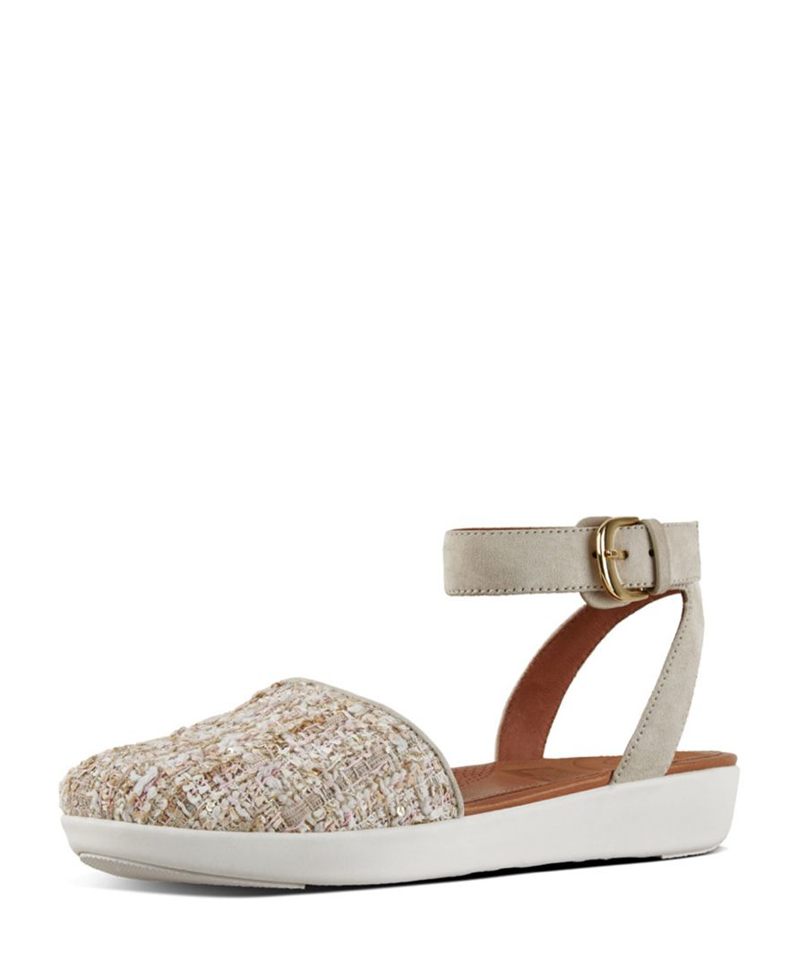 Cova pink leather closed-toe sandals