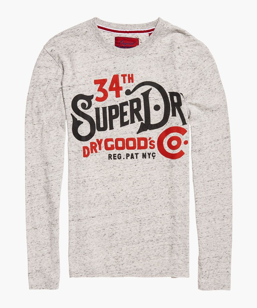 Sea Stone Grey Snowy Nyc Goods Co Long Sleeve T-Shirt