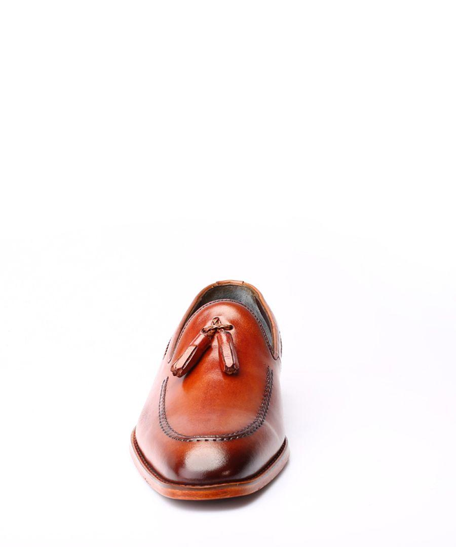 Men's tan Derby shoes