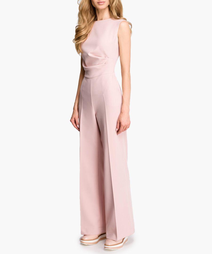 Rose wide-leg sleeveless jumpsuit