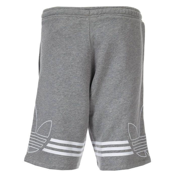 Men's adidas Originals Outline Fleece Sweat Shorts in Grey