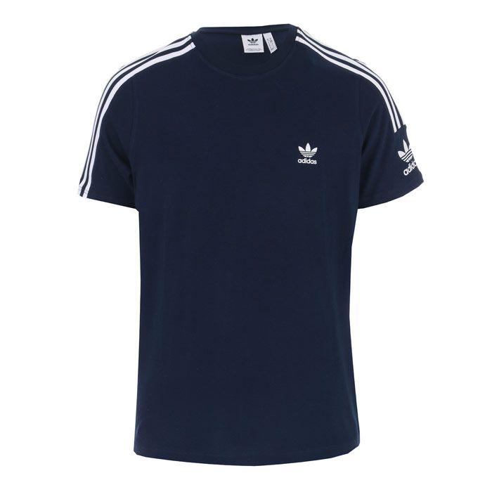 Men's adidas Originals Tech T-Shirt in Navy
