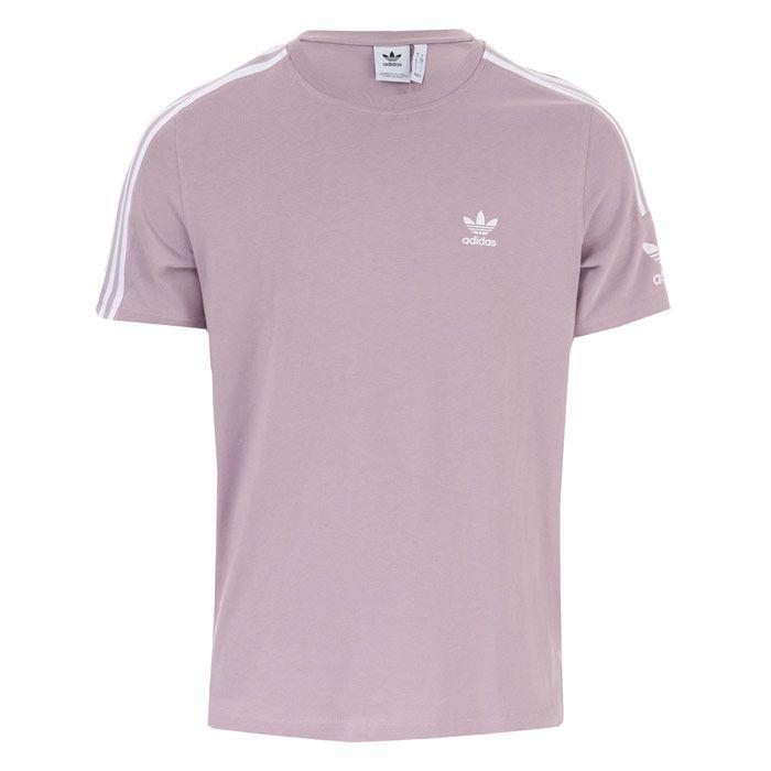 Men's adidas Originals Tech T-Shirt in Lilac