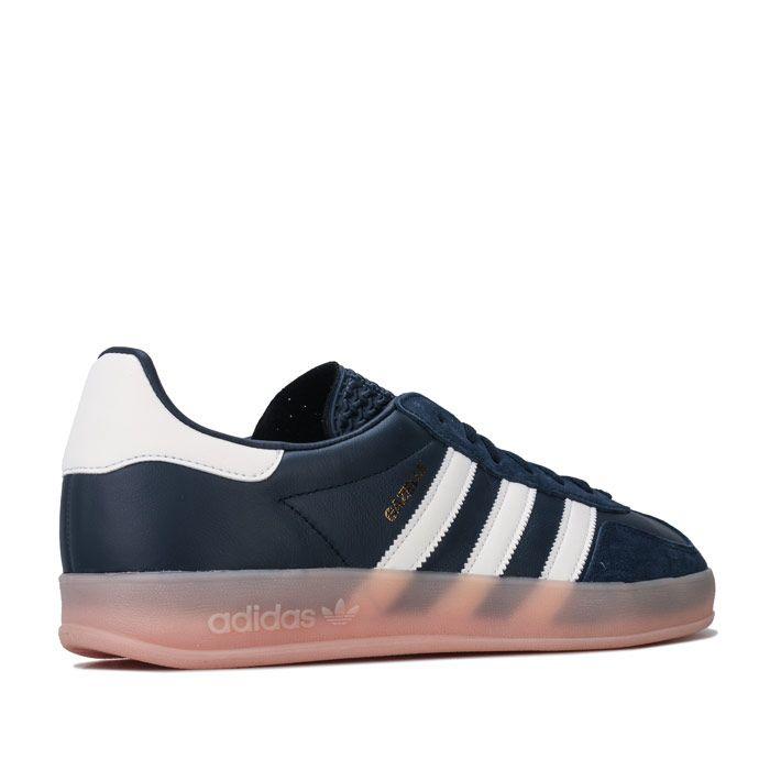 Men's adidas Originals Gazelle Indoor Trainers in Navy-White